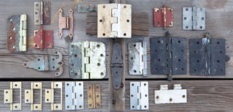 Weathered old hinges to be reused Stock Image