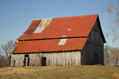 Weathered old Midwestern Barn Stock Images