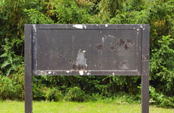 Weathered old notice board Royalty Free Stock Photography