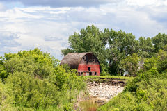 Weathered old red barn Royalty Free Stock Images