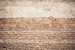 Weathered and old red brick wall Stock Image