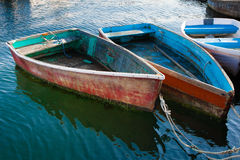 Weathered Old Rowboats Royalty Free Stock Photography