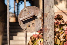 Weathered old rusted gate Royalty Free Stock Images