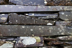 Weathered old slate wall background Stock Photography