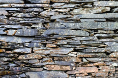 Weathered old slate wall background Royalty Free Stock Photography
