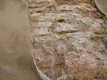 Weathered old stone wall Stock Photography