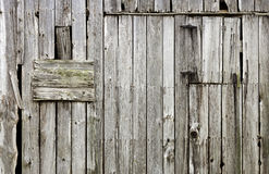 Weathered old wood barn background Stock Photo