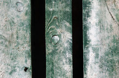 Weathered old wood natural faded green painted background Royalty Free Stock Images