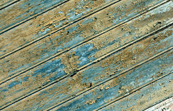 Weathered orange painted wooden wall texture. Royalty Free Stock Photos