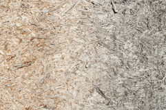 Weathered osb board closeup Royalty Free Stock Photography