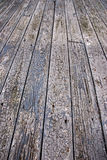 Weathered outdoor wood floor Stock Photos