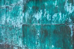 Weathered, oxidized copper wall structure royalty free stock photos