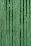 Weathered painted green wooden boards Stock Image