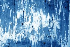 Weathered painted metal wall in navy blue color. Stock Photography