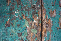 Weathered painted wood Stock Photography