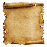Weathered paper scroll Stock Images
