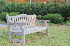 Weathered park bench Stock Image