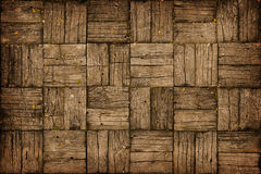 Weathered, Parquet Style, Wooden Decking Stock Image