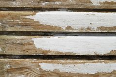 Weathered and peeling painted wood Stock Photo