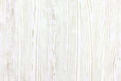 Weathered a peint le fond en bois blanc de planche Photo libre de droits