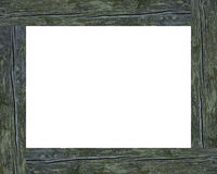 Weathered picture frame. Weathered wooden picture frame Stock Photos