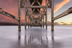 Weathered Pier Royalty Free Stock Photography