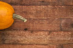 Weathered wood with pumpkin stock images