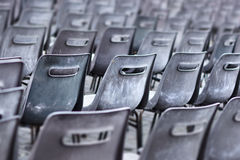 Weathered plastic chairs Royalty Free Stock Image