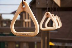 Weathered Playground Rings Royalty Free Stock Photos