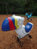 Weathered Playground Spring Toys Wait for New Riders Royalty Free Stock Photos