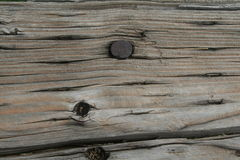 Weathered railroad tie, close up Stock Photography