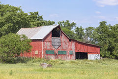 Weathered Red Barn Stock Photos