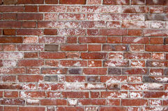 Weathered red brick wall background Stock Photo