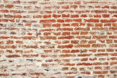 Weathered red brick wall Royalty Free Stock Image