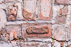 Weathered red bricks Stock Photography