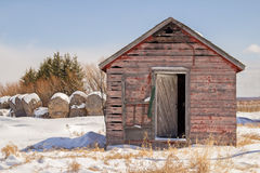 Weathered red shed Royalty Free Stock Images