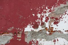 Weathered Red Wall Royalty Free Stock Photos