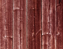 Weathered red wooden fence texture with nails. Royalty Free Stock Image