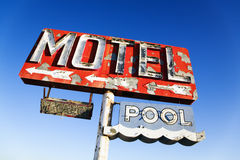 Weathered Retro Motel Sign royalty free stock photography