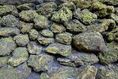 Weathered Rocks Background Stock Photography