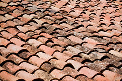 Weathered roof tiles Royalty Free Stock Image