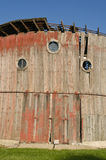 Weathered round barn Royalty Free Stock Images