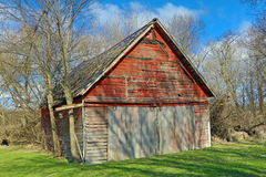 A Weathered Rural Farm Building Stock Photo