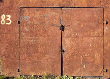 Weathered rusty doors Royalty Free Stock Photos