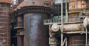 Rusty industrial scenery Royalty Free Stock Images