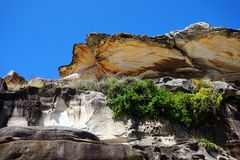Weathered Sandstone Cliffs Stock Photography