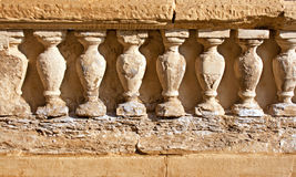 Weathered sandstone columns Stock Images
