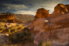 Weathered Sandstone of Southern Nevada Stock Photo