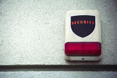 Weathered security alarm with room for text Royalty Free Stock Photography