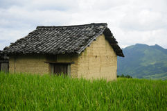 Weathered shack in China Royalty Free Stock Photos